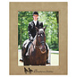 "8"" x 10"" Light Brown Leatherette Picture Frame..Includes Simple Engraving"