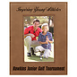"""4"""" x 6"""" Dark Brown Leatherette Picture Frame..Includes Simple Engraving"""