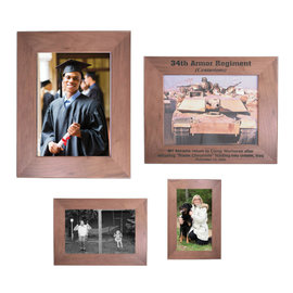 Walnut Picture Frame - Square Corners