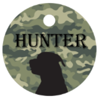 """Engraved Pet Tag -Round  1"""""""
