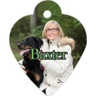 """Engraved Pet Tag - Heart 1 3/8"""" x 1 1/4"""""""