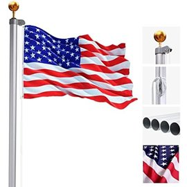 Flag Pole - 20' Aluminum  with 5 sections