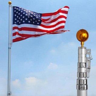 Flag Pole - 21' Aluminum Telescoping