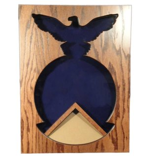 Morgan House Firefighter Badge Shadow Box