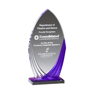Tidal Purple Mirrored Acrylic Award