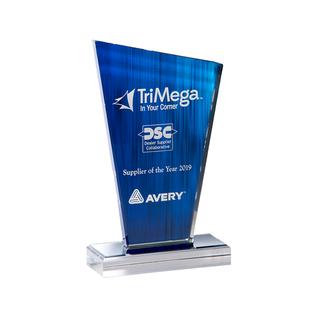 "Peak Blue Acrylic Award - 5"" x 8.25"""
