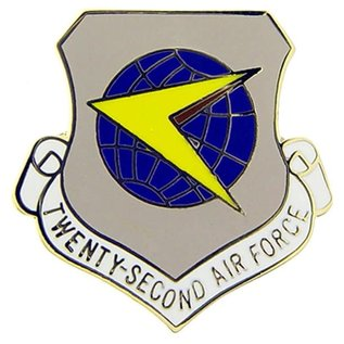 22nd Air Force Pin - (7/8 inch)