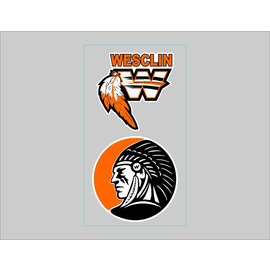 Wesclin Decal -  2 pack
