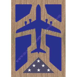 Morgan House Shadow Box in the shape of a C-5