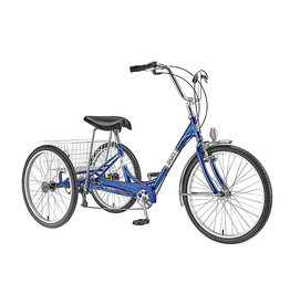 "Sun Bicycles SUN ADULT TRIKE 24"" 7-SPEED BLUE"