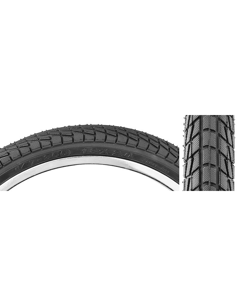 TIRE 18X2.0 BLK SMOOTH