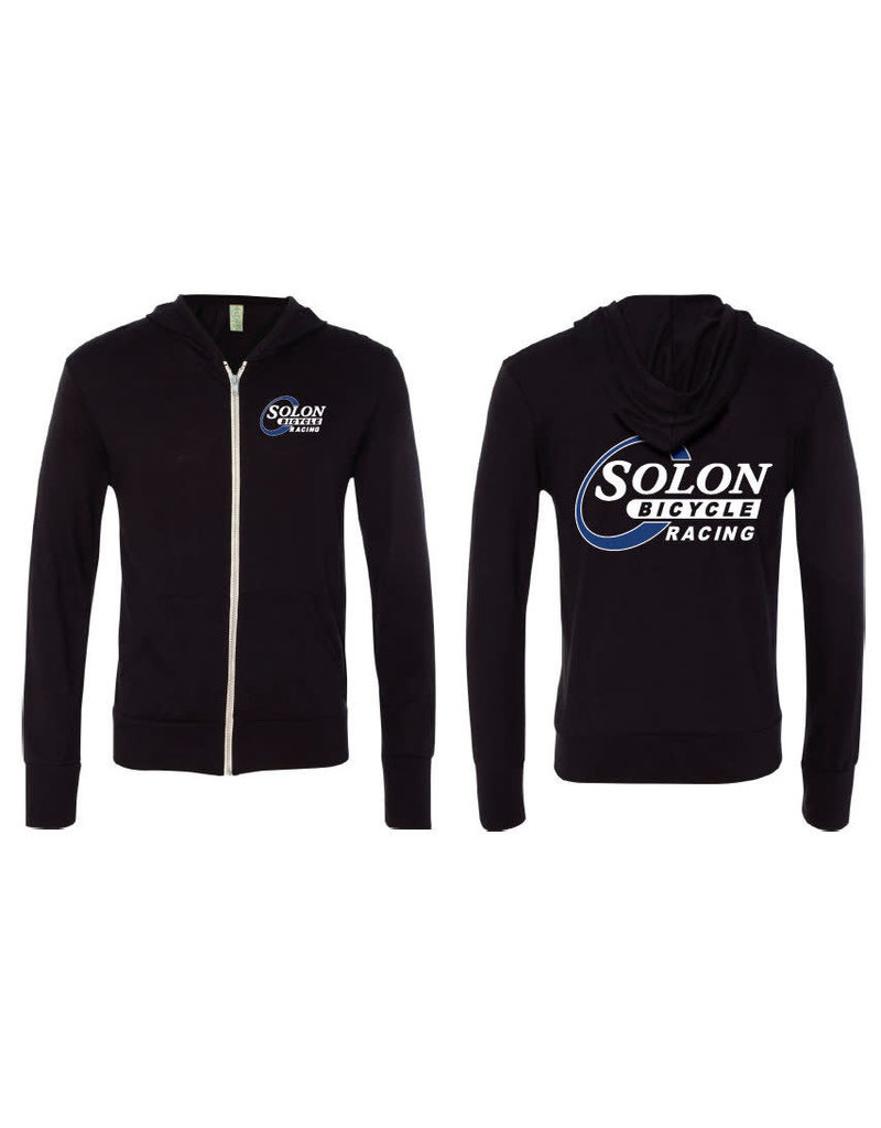 HOODY SOLON RACING LG BLK WARM-UP LIGHTWEIGHT