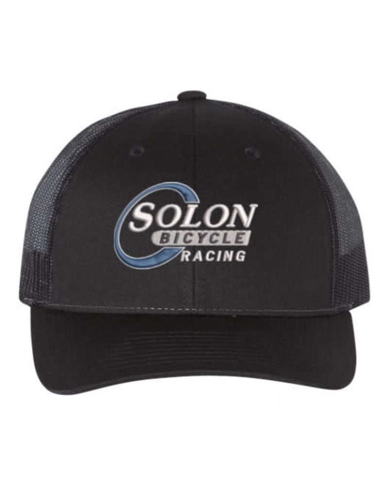HAT / CAP SOLON BICYCLE RACING TRUCKER BLK/BLK