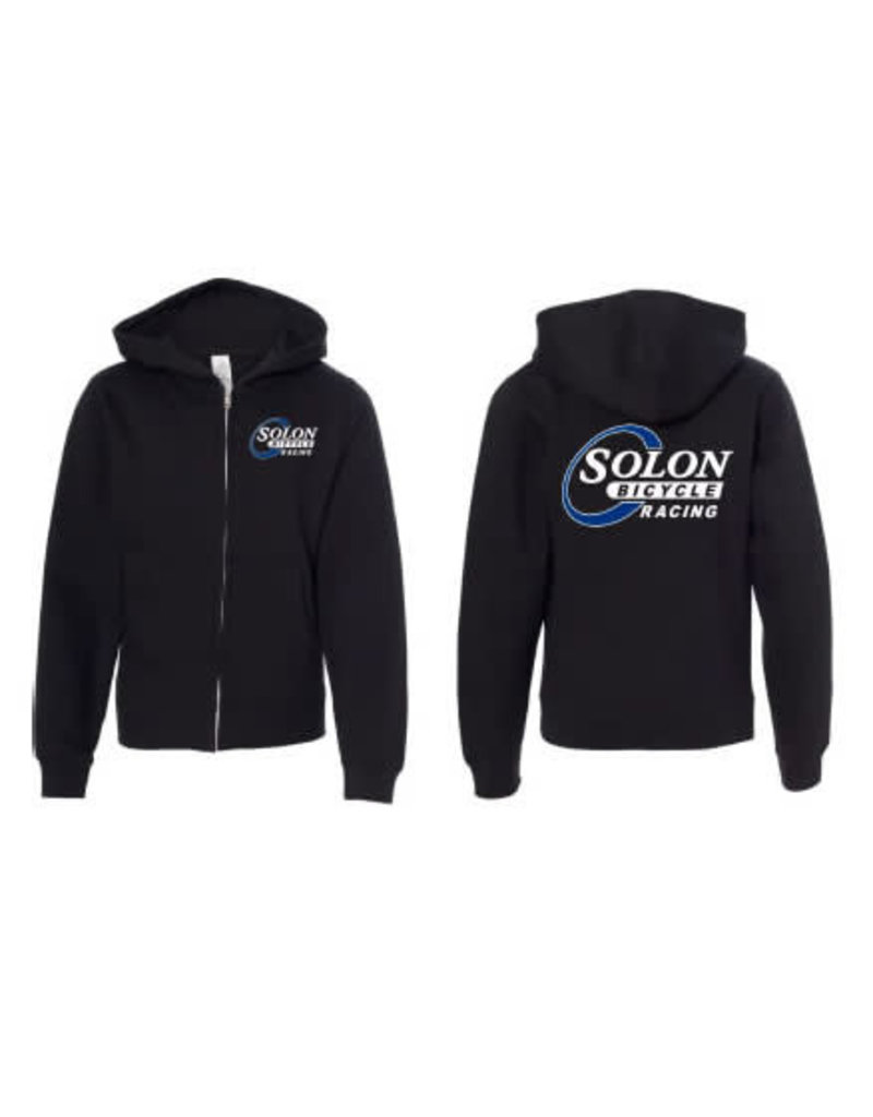 HOODY SOLON RACING MD BLK MIDWEIGHT