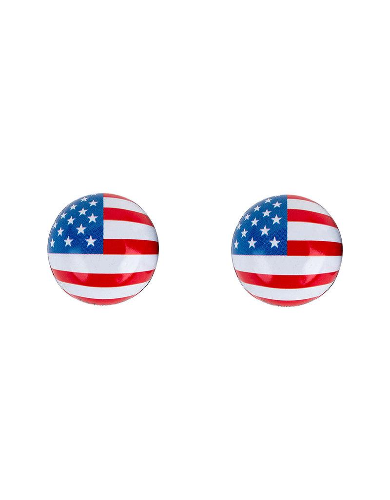 TRICKTOPZ VALVE CAPS TRICKTOPZ FLAG-USA 1pr/PK