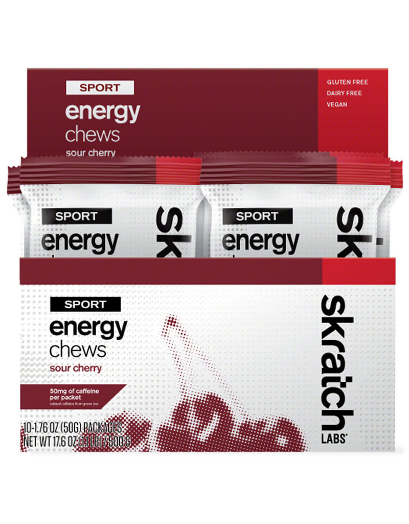 Skratch Labs SKRATCH ENERGY CHEWS SOUR CHERRY W/CAFFEINE