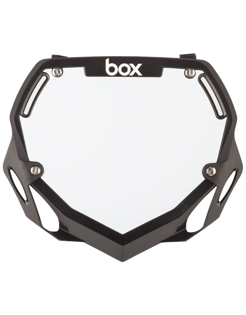 BOX BMX NUMBER PLATE BOX TWO LARGE BLK