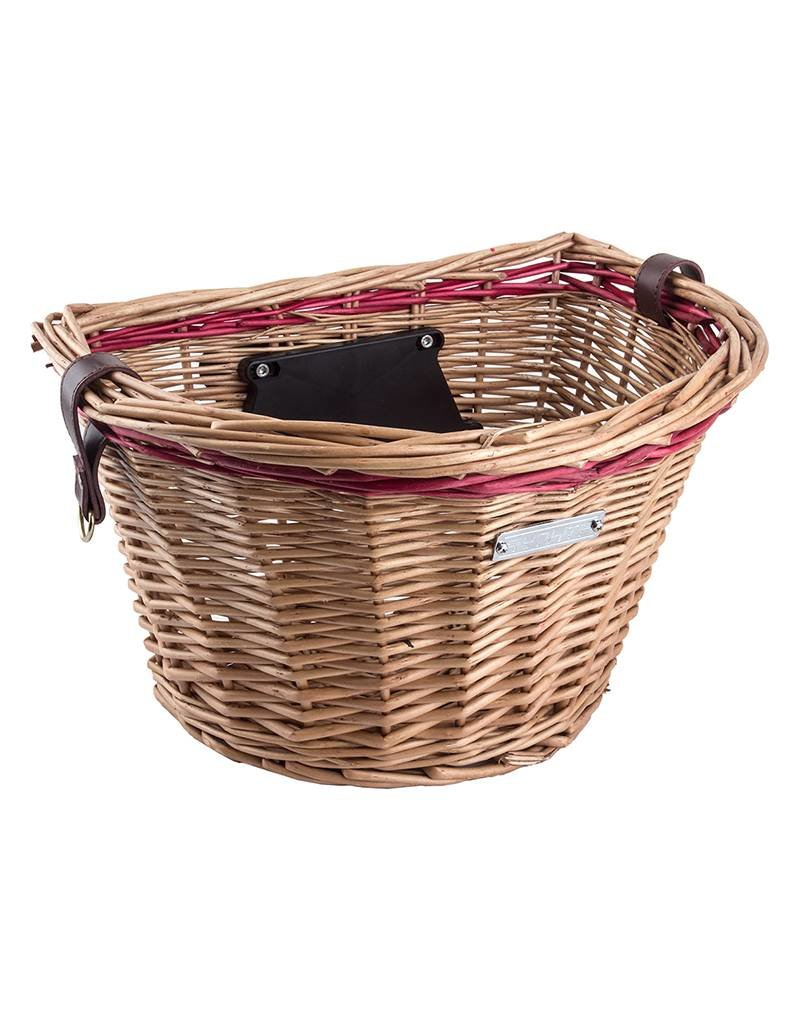 BASKET FRNT SUNLT WICKER HONEY-RD QR