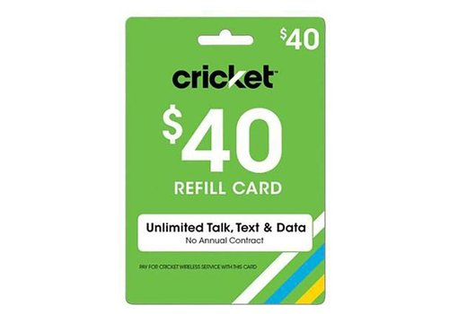 Cricket Voucher Recharge  Card ($40 Reload)