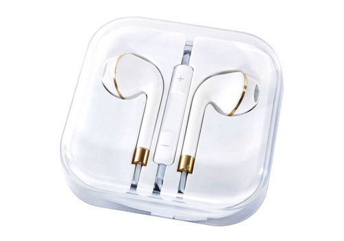 Earphones for Apple w/ Metallic Lining 2