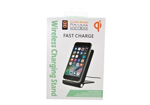 Wireless Charging Stand - Fast Charge (3-Coil Design, Foldable) - Qi