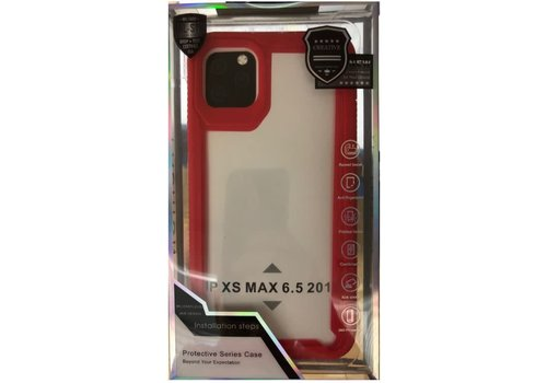Case- Clear with Thick Color Rubber Frame (Protective Series - Millitary Standard)