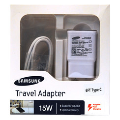 Original 2in1 Samsung Fast Adapter w/ 6ft Type-C Cable (White Packaging)