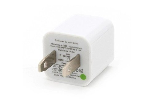 Cube Wall Adapter- 1 Port