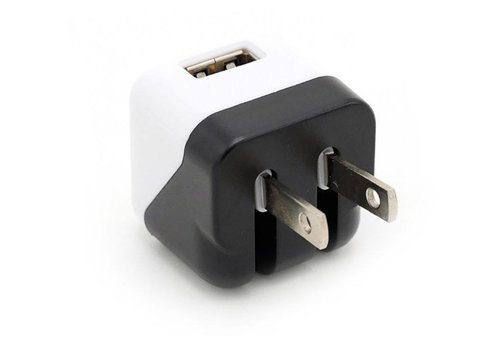 Cube Wall Adapter- 1 Port (Black/White)