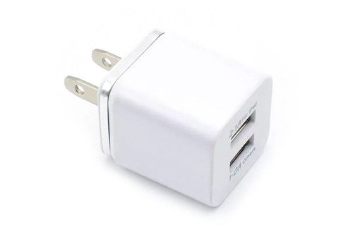 Cube Wall Adapter- 2 Port (Color Edge)
