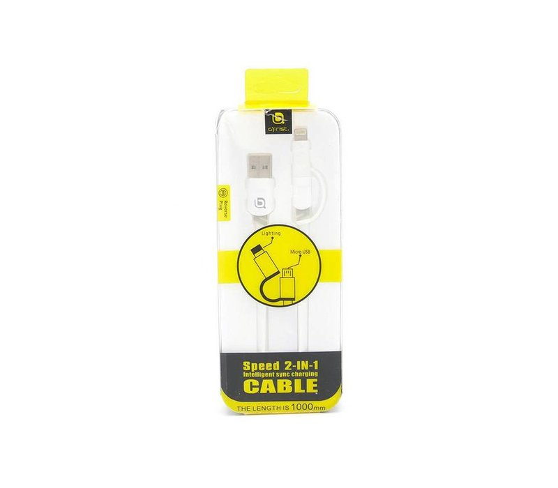2in1 Multi-Pin Lightning/V8 Cable (Detachable) (E600)