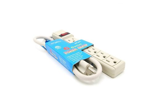 Seven Star Seven Star 6 Outlet Power Strip 110V (SS501)
