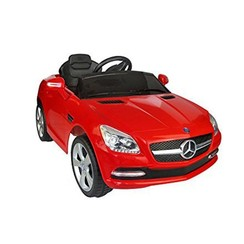 Remote-Controlled Car for Kids- Mercedes-Benz, Dual Motor, 12V (HDF J-522) (Red)