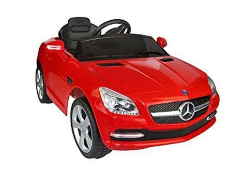 Remote-Controlled Car for Kids- Mercedes-Benz, Dual Motor, 12V (HDF J-522) (Red)