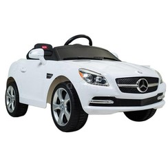 Remote-Controlled Car for Kids- Mercedes-Benz, Single Motor, 6V (HDF J-522A) (White)