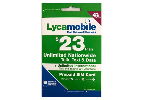 Lyca Mobile Voucher Recharge Card ($23 Reload)