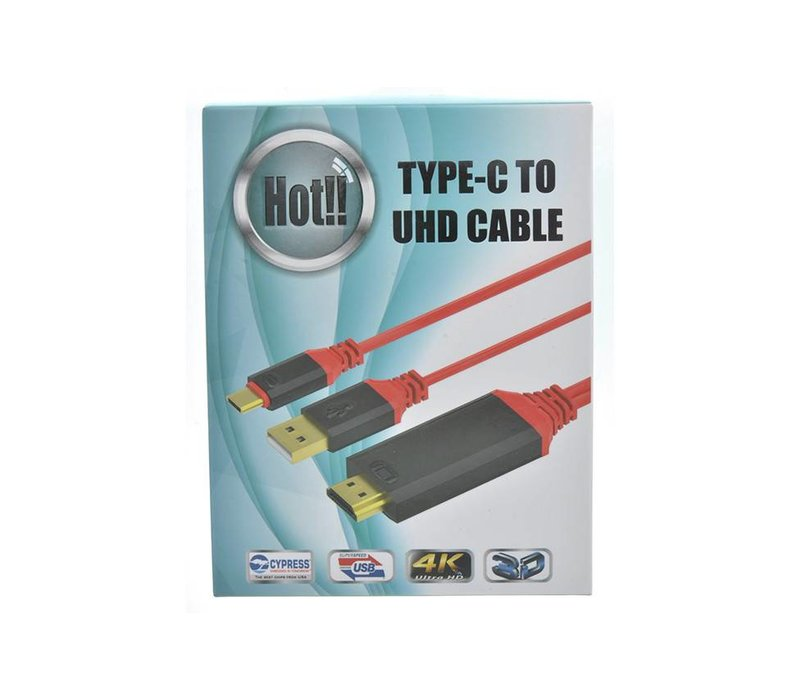 4K Valore Type-C To UHD HDTV Cable w/ Smart Power Charge (2M)