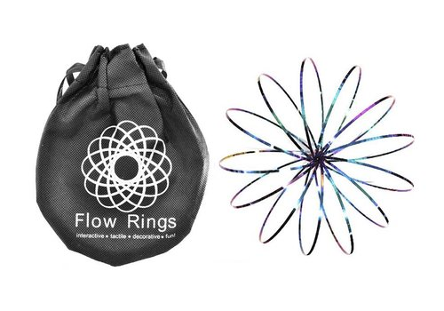 Flow Rings (5 inch / 13 cm) (Black Bag) - Rainbow