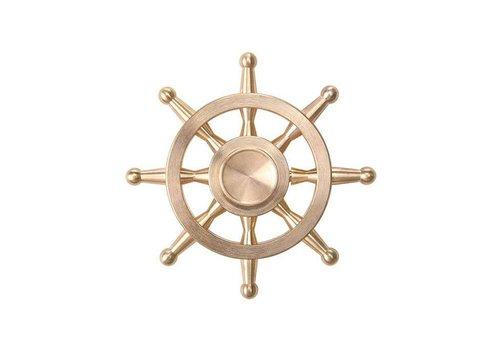 Fidget 8-Spoke Shipwheel Copper Metal Spinner (Modern Style Thin Handle)