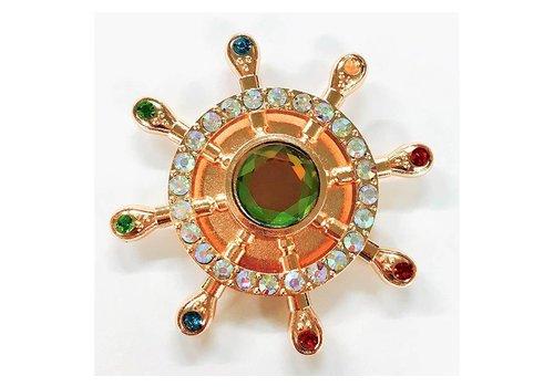 Fidget 8-Spoke Shipwheel Spinner (w/ Diamonds)