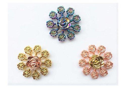 Fidget 9-Point Rose Metal Spinner