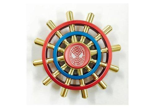 Fidget 12-Spoke Spider Shipwheel Spinner (Red, Blue)