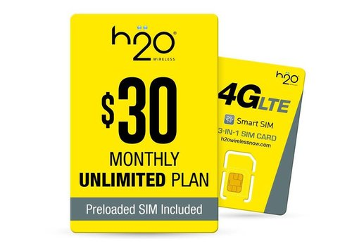 Sim Card - H2O $30 Preloaded