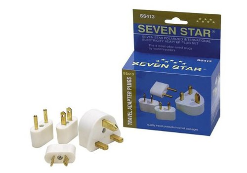 Seven Star Seven Star 4 Adapter Plugs (3 Prong/Round Pins/Flat Blades/Flat Angled Blades)