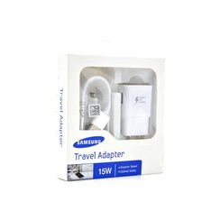 Original 2in1 Samsung Fast Adapter w/ 6ft MicroUSB Cable (White Packaging)