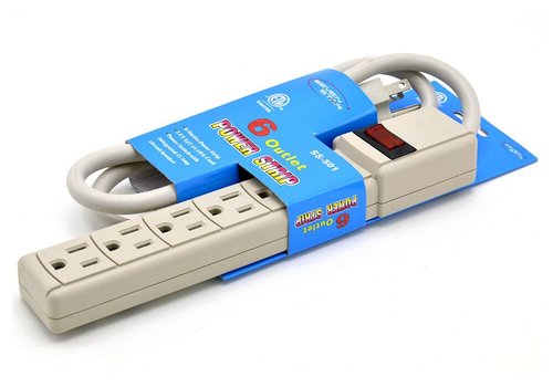 Seven Star Seven Star 6 Outlet Surge Protector With 2 USB (SS-503)