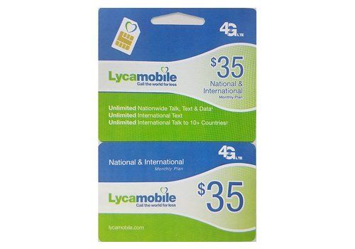 Lyca Mobile Voucher Recharge  Card ($35 Reload)