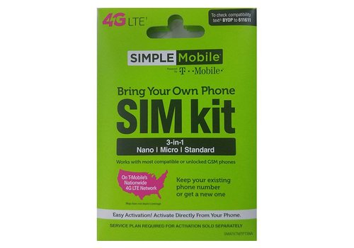 Sim Card- Simple Mobile (Sim Kit)