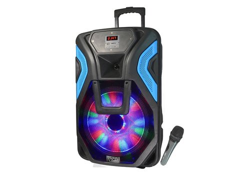 "Top Tech Audio Top Tech Bluetooth Speaker- 15"", LED Lights, Mic, 2800W (RIO-115BT)"