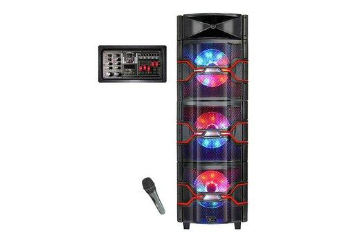 """Top Tech Audio Top Tech Bluetooth Speaker- Triple 10"""", Woofers w/ LED, 3000W (TTA-310LG)"""